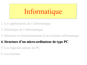 Structure d`un micro ordinateur de type PC