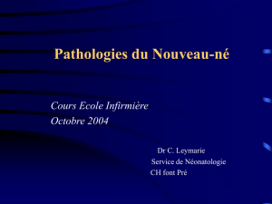 pathologie du NNé 1