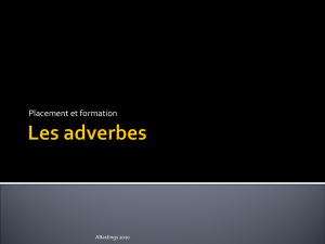 Les adverbes - WordPress.com