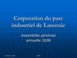 Corporation du parc industriel de Lanoraie
