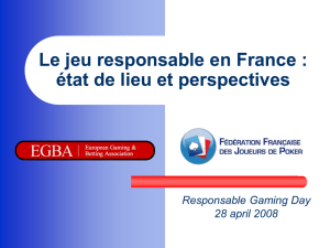 Le jeu responsable - Responsible Gaming Day