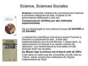 Science, Sciences Sociales