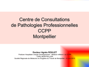 Centre de Consultations de Pathologies Professionnelles