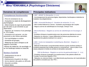 Mina YENKAMALA (Psychologue Clinicienne) - Présentation