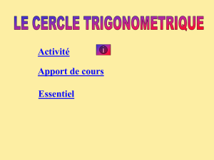 cercle trigonometrique