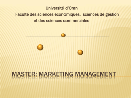 Master: MARKETING MANAGEMENT