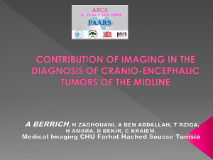 contribution of imaging in the diagnosis of cranio