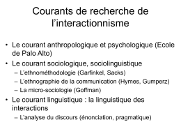 L`interactionnisme