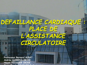 l`assistance circulatoire