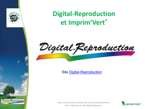 Pourquoi Imprim`Vert - digital reproduction