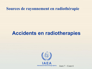Accident en radiotherapie
