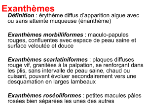 Toxidermies érythémateuses