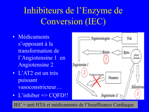 Inhibiteurs de l`Enzyme de Conversion (IEC)