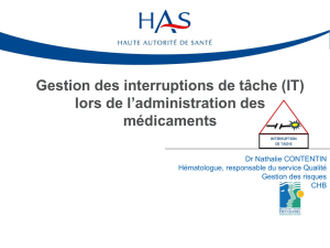 Gestion des interruptions de tâche (IT)