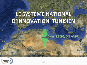 le système national d`innovation tunisien