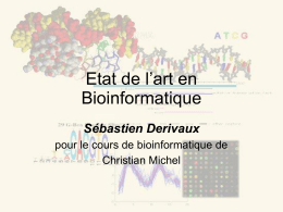 Etat de l`art en Bioinformatique