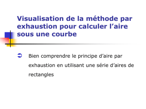 Calcul d`aire par exhaustion