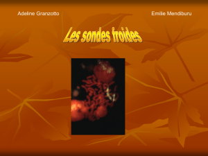 Les sondes froides - Site perso mcavalla