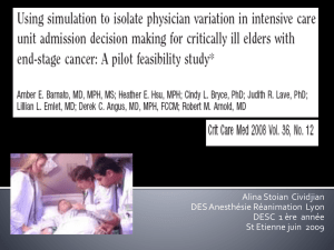Using simulation to isolate physician variation in intensive care unit