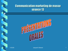Communication marketing de masse séance 12