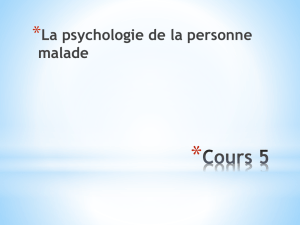Le comportement de malade - psychiatry