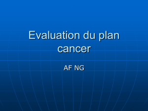 Evaluation du plan cancer - SantePub