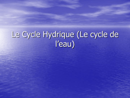 Le Cycle Hydrique - hrsbstaff.ednet.ns.ca