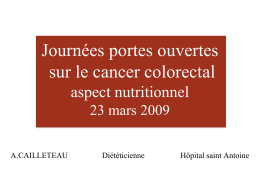 Cancer colorectal et nutrition