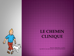 Le CHEMIN CLINIQUE
