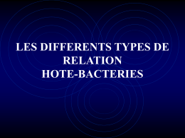 LES DIFFERENTS TYPES DE RELATION HOTE