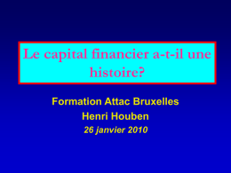 Présentation capital financier - ATTAC