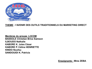 i- les outils traditionnels du marketing direct