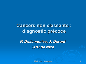 Cancers non classants : diagnostic précoce