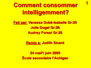 Comment consommer intelligemment?