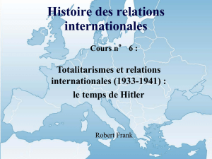 Histoire des relations internationales Cours n° 6