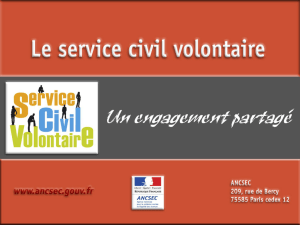 Le service civil volontaire