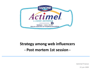 Strategy among web influencers