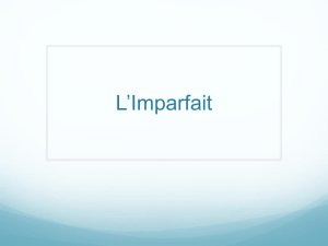 L`Imparfait - CHS FRENCH