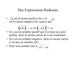 Simplifier des expressions radicales