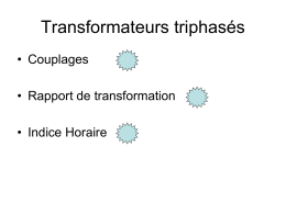 Transformateurs triphasés