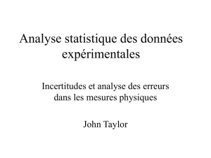 Incertitudes et statistiques 1: document Power Point