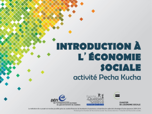 introduction à l`économie sociale