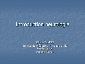 Introduction neurologie