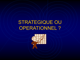 strategique ou operationnel