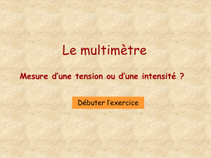 Un multimètre en dérivation mesure-t-il