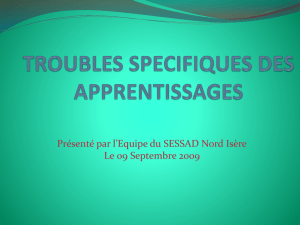 trouble d`apprentissage