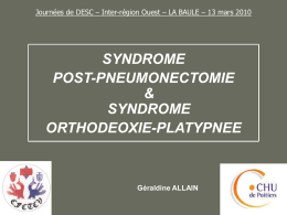 SYNDROME POST-PNEUMONECTOMIE