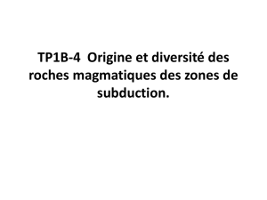 Illustrations tp4 magmatisme subduction