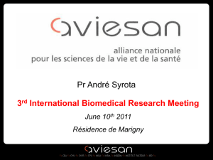 The French Alliance for Life and Health Sciences