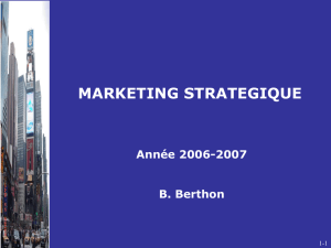 1 - Fondement Du Marketing Stratégique